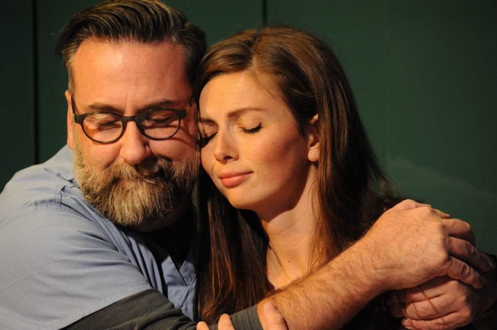 Warren Sherrill (Dennis) and Maire Higgins (Lauren) in Full Code. Photo by Michael Ensminger.