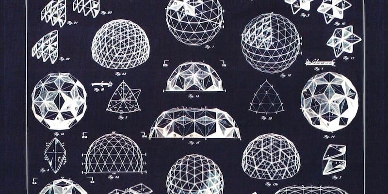Geodesic dome designs by Buckminister Fuller